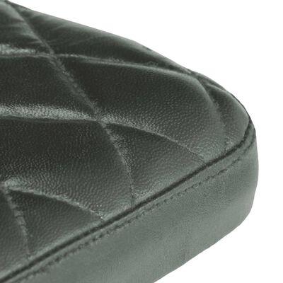 vidaXL Matstolar 2 st grå äkta läder