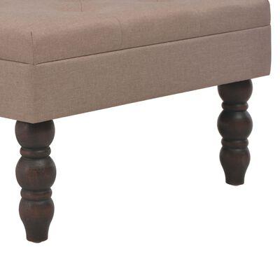 vidaXL Pall brun 60x60x36 cm polyester