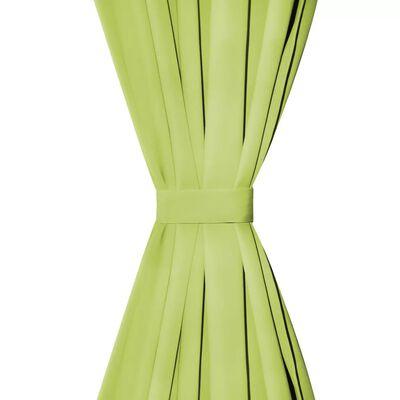 vidaXL Gardiner i microsatin 2 st med öglor 140x245 cm grön