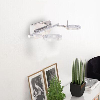 vidaXL LED Vägg-/Taklampa med 2 lampor varmvit