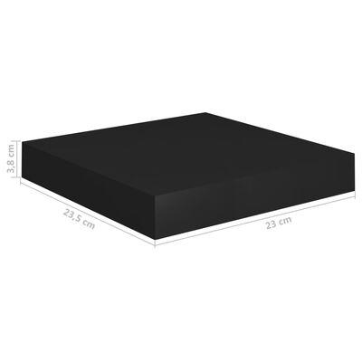 vidaXL Svävande vägghylla svart 23x23,5x3,8 cm MDF