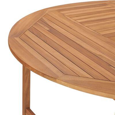 vidaXL Trädgårdsbord 150x76 cm massiv teak,