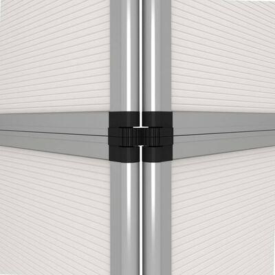 vidaXL Hopfällbar utställningsvägg 12 paneler 242x200 cm vit