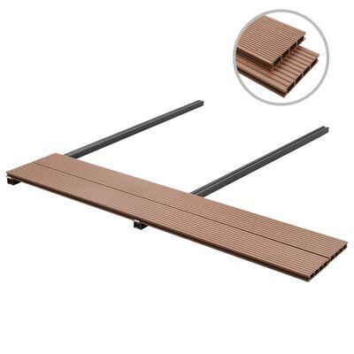 vidaXL WPC golvplattor med tillbehör 40 m² 2,2 m brun