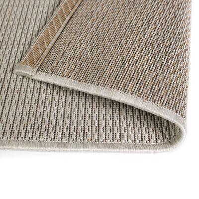 vidaXL Matta sisallook inomhus/utomhus grå 140x200 cm