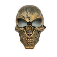 Dödskalle Purge mask maskerad fest party halloween - Guld