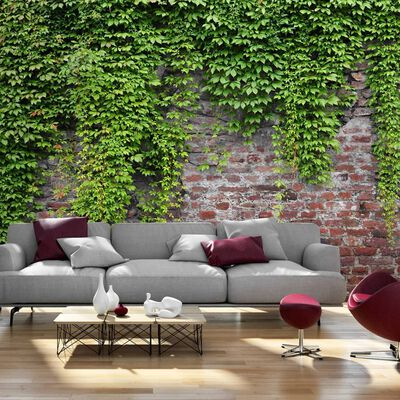 Fototapet - Brick And Ivy - 100x70 Cm