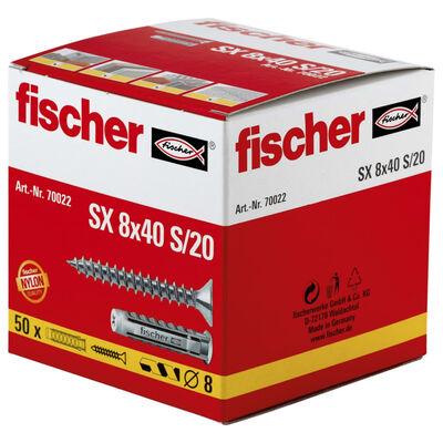 Fischer Expansionsplugg med skruvar 8 x 40 SX 50 st