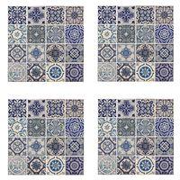 WALPLUS Väggdekal spansk blå 54x54cm 4 ark