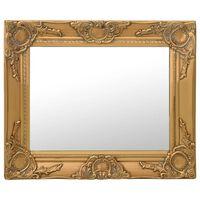 vidaXL Väggspegel barockstil 50x40 cm guld