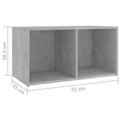 vidaXL TV-skåp 5 delar betonggrå spånskiva