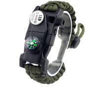 Paracord Survival Armband Taktiskt Nödutrustningssats