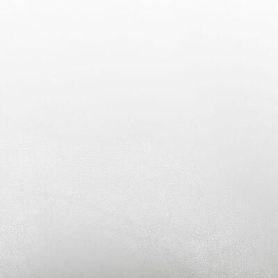 vidaXL Fåtölj med fotpall vit konstläder