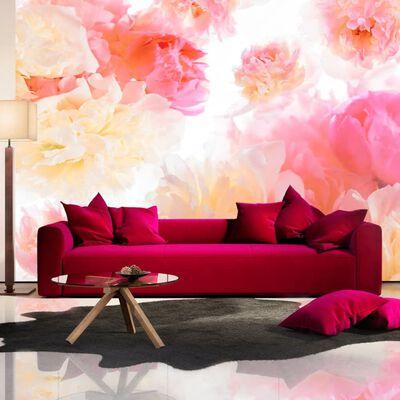 Fototapet - Pastel Peonies - 150x105 Cm