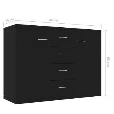 vidaXL Skänk svart 88x30x65 cm spånskiva
