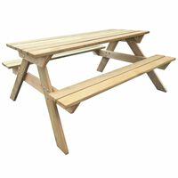 vidaXL Picknickbord för barn 150x135x71,5 cm trä
