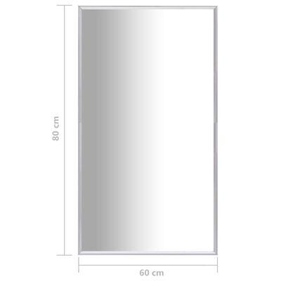 vidaXL Väggspegel 80x60 cm silver