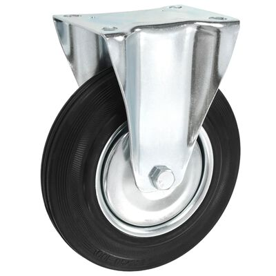 vidaXL Fasta hjul 12 st 200 mm