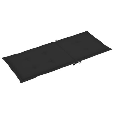 vidaXL Dynor för trädgårdsstolar 6 st svart 120x50x4 cm