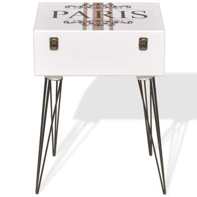 vidaXL Sängbord 2 st 40x30x57 cm vit