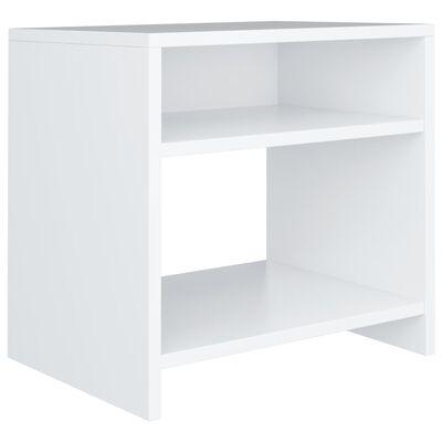 vidaXL Sängbord 2 st vit 40x30x40 cm spånskiva