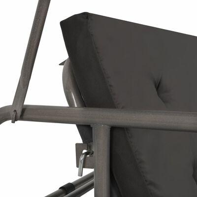 vidaXL Hammock med tak antracit 198x120x205 cm stål