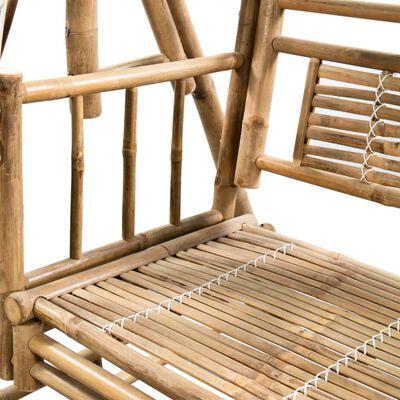 vidaXL 2-sits hammock med palmblad och dyna bambu 202 cm
