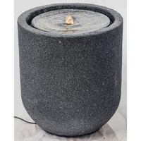 HEISSNER Terrassfontän med LED cylinder 41x41x45 cm svart