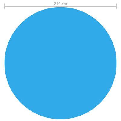 vidaXL Värmeduk pool PE 250 cm blå