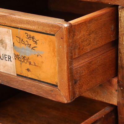 Förvaringsskåp återvunnet trä 4 lådor
