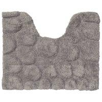 "Sealskin Pedestal Mat ""Pebbles"" Cotton 50x60 cm Grey"