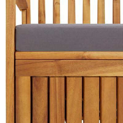 vidaXL Förvaringsbänk 120 cm massivt akaciaträ