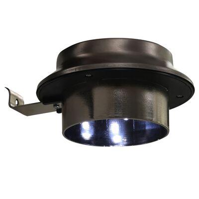 vidaXL Solcellslampor 12 st LED runda 12 cm vit