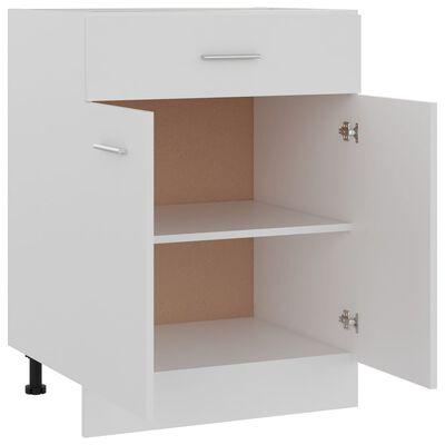 vidaXL Underskåp med låda vit 60x46x81,5 cm spånskiva
