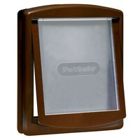 PetSafe 2-vägslucka för husdjur 775 stor 35,6x30,5 cm brun 5024