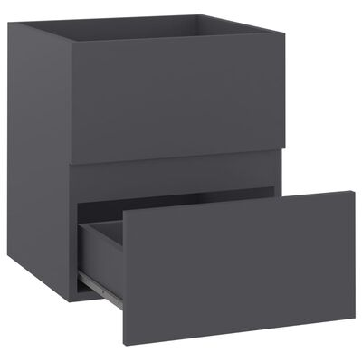 vidaXL Tvättställsskåp grå 41x38,5x45 cm spånskiva