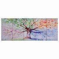 vidaXL Canvastavla regnträd flerfärgad 200x80 cm
