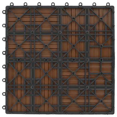 vidaXL Trall 22 st 30x30 cm 2 kvm WPC teakfärg