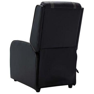 vidaXL Massagefåtölj svart och grå konstläder