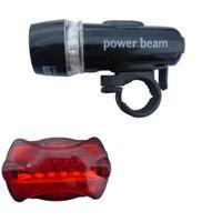 Vattentäta LED cykellampor fram och bak