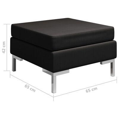 vidaXL Fotpall till modulsoffa med dyna tyg svart
