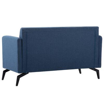 vidaXL 2-sitssoffa med tygklädsel 115x60x67 cm blå