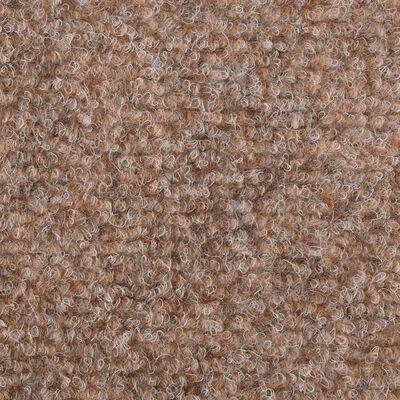 vidaXL Trappstegsmattor självhäftande 15 st brodyr 54x16x4 cm brun