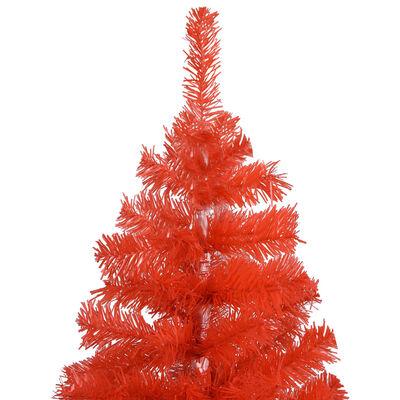 vidaXL Plastgran med fot röd 120 cm PVC