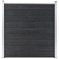 vidaXL Staketpanel WPC 180x186 cm grå