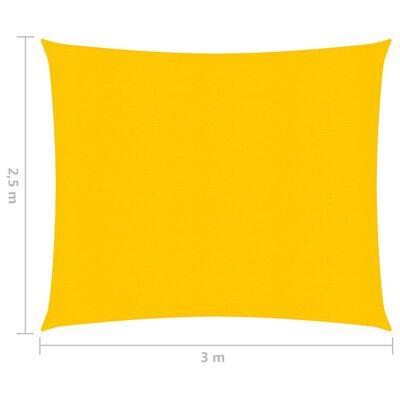 vidaXL Solsegel 160 g/m² gul 2,5x3 m HDPE