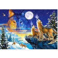 Castorland Pussel, 1000 bitars, Howling Wolves