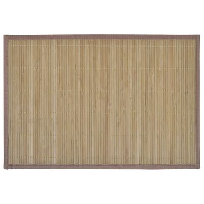 6 Bordstabletter i bambu 30 x 45 cm brun