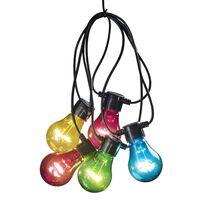 KONSTSMIDE Festslinga med 10 lampor flerfärgad