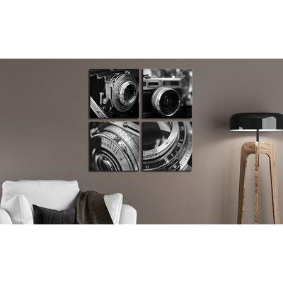Tavla - Vintage Cameras - 90x90 Cm
